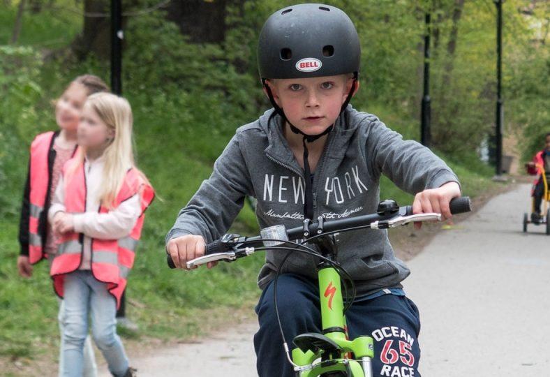 Flest cykelolyckor sker till och från skolan