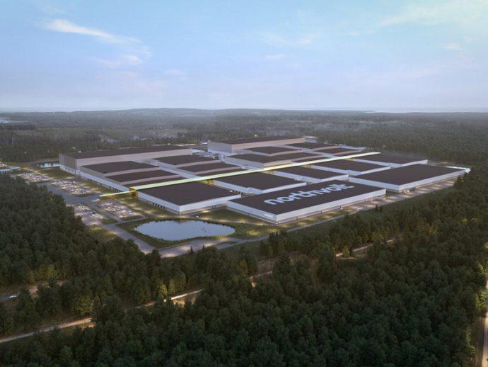 Batterifabriken i Skellefteå Foto: Northvolt